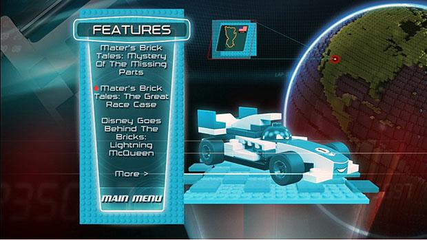 Take Five A Day Blog Archive Disney Pixar Cars 2 Toys R Us Version Dvd Blu Ray Lego Disc