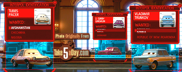 Take Five A Day 187 Blog Archive 187 Disney Pixar Cars 2 The