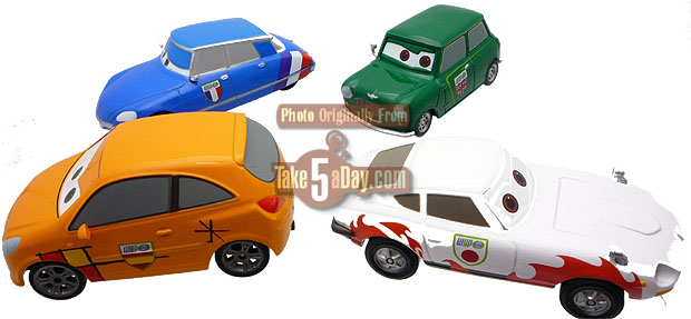 take five a day blog archive disney store cars 2 diecast world grand prix racers crew. Black Bedroom Furniture Sets. Home Design Ideas
