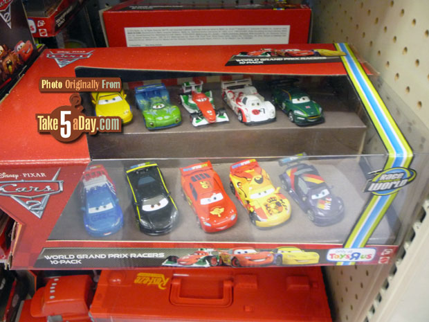 Take Five a Day » Blog Archive » Mattel Disney Pixar CARS 2 Diecast: Toys R  Us 10-Pack Definitely Pizar