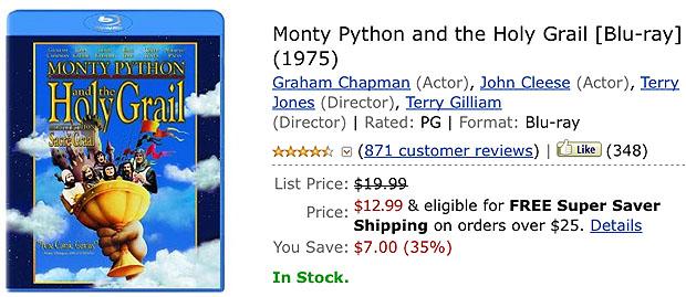 Take Five a Day » Blog Archive » Monty Python's Holy Grail + iPad