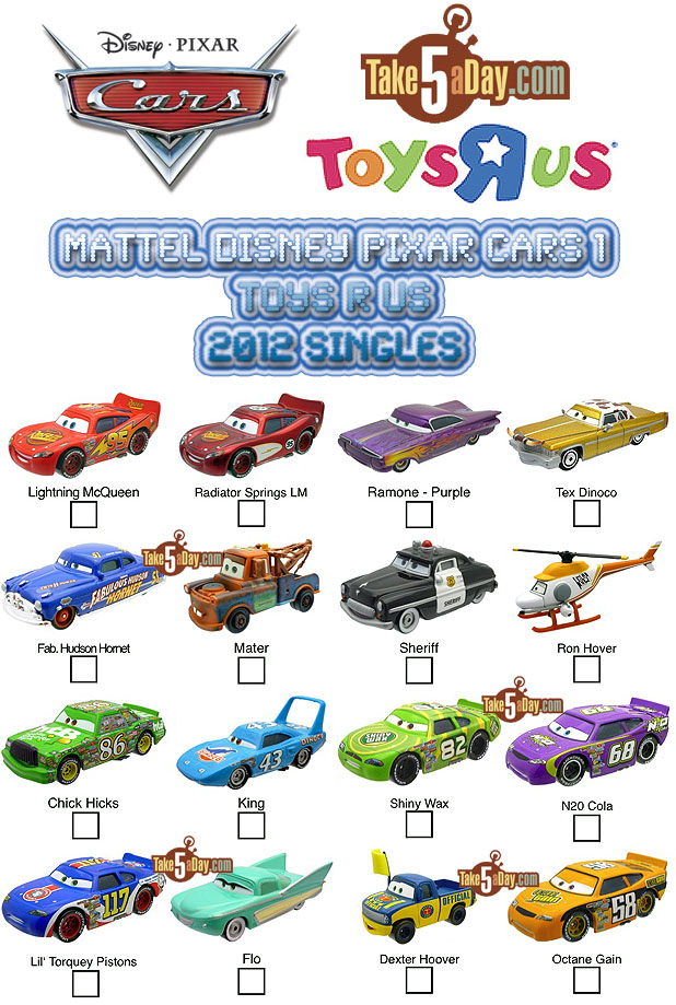 Take Five A Day Blog Archive Mattel Disney Pixar Diecast Cars
