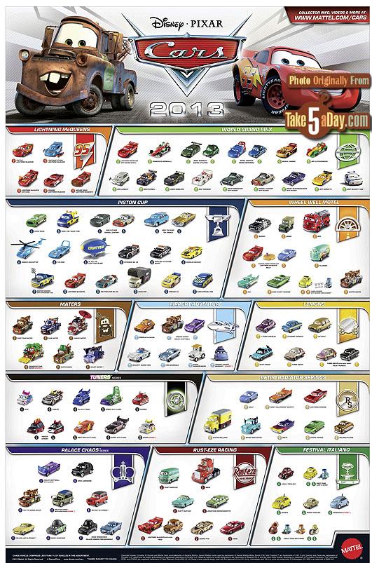 Take Five A Day Blog Archive Mattel Disney Pixar Cars 2