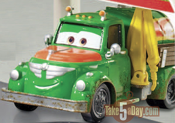 Take Five A Day Blog Archive Mattel Disney Toons Planes Official One Sheet Character Names Fuel Truck The Pitty S