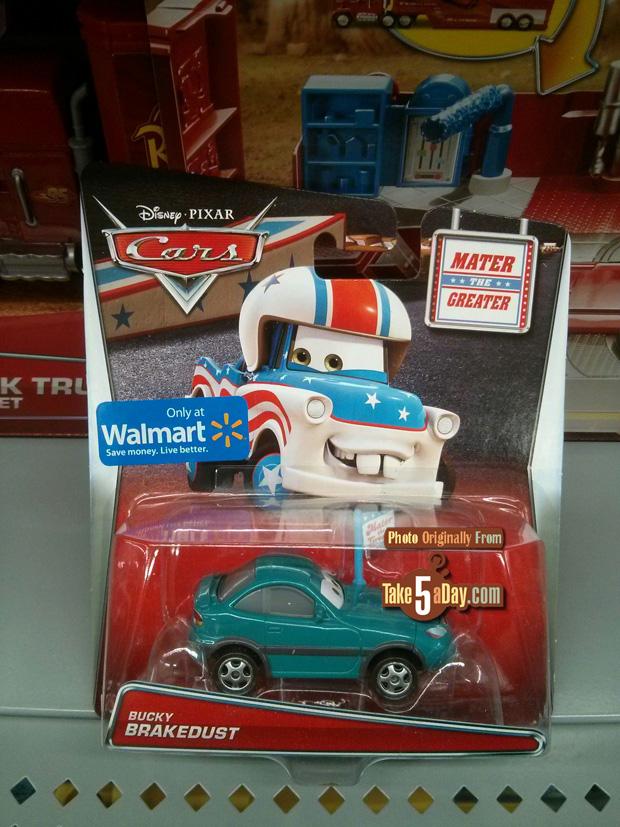 DISNEY CARS BUCKY BRAKEDUST GREATER  MATER  WALMART EXCLUSIVE