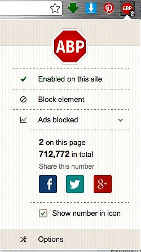 block ad