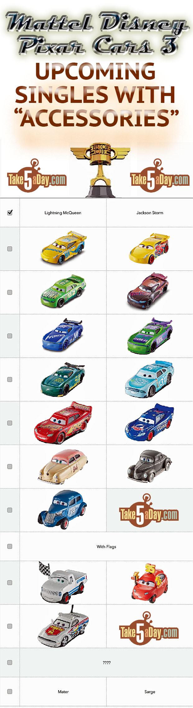 Take Five A Day Blog Archive Mattel Disney Pixar Cars 3 Diecast