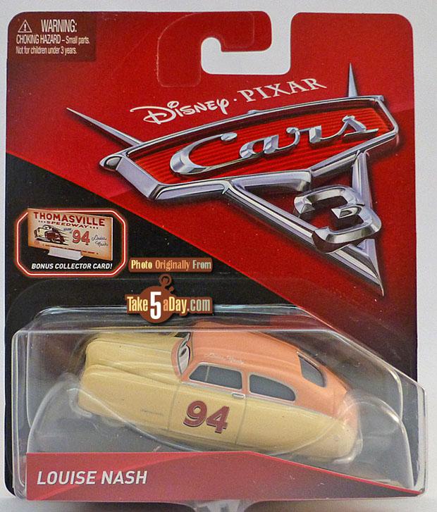 Very Rare Disney Pixar Cars 3 Louise Nash With Collector Card