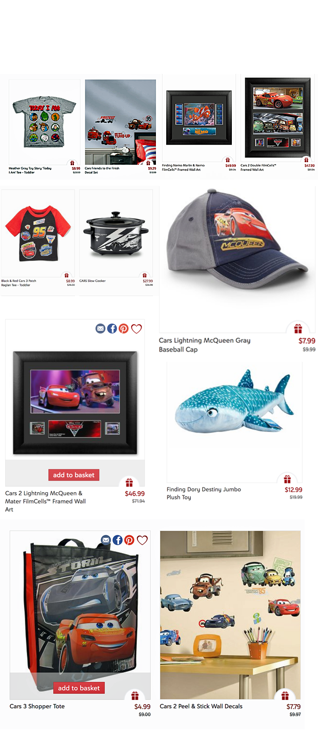 Take Five a Day » Blog Archive » Pixar & CARS Sale – Zulily