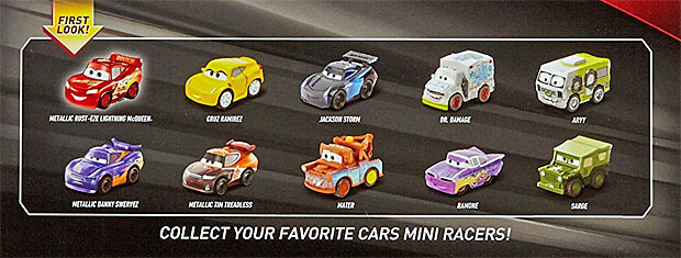 Mattel Disney Pixar CARS 3: Metal Micro Racers Vehicle 10 ...