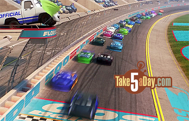 Take Five A Day 187 Blog Archive 187 Disney Pixar Cars 3 Dinoco Skips The Florida 500