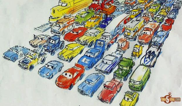 Disney Pixar CARS: Rough Sketch Start