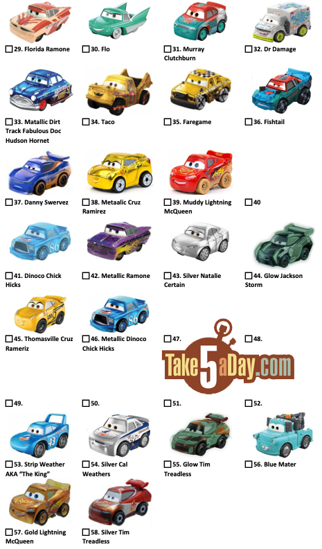 Take Five a Day » Blog Archive » Mattel Disney Pixar CARS