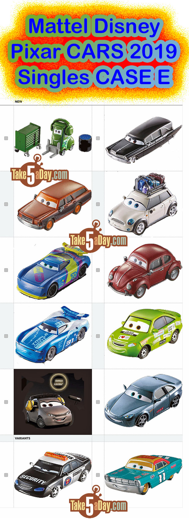 Take Five A Day Blog Archive Mattel Disney Pixar Cars The Super