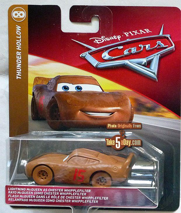 Mattel Disney Pixar Cars 3 Lightning McQueen as CHESTER WHIPPLEFILTER Car