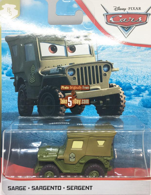 Take Five A Day Blog Archive Mattel Disney Pixar Cars Sarge