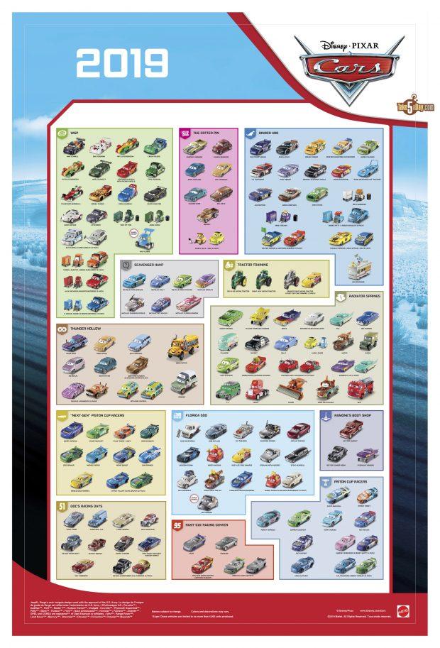 Take Five A Day Blog Archive Mattel Disney Pixar Cars 2019 Diecast Release Poster