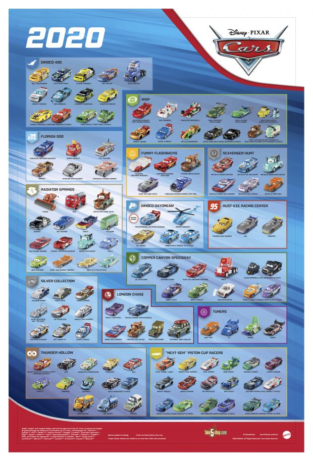 Take Five A Day Blog Archive Mattel Disney Pixar Cars 2020 Diecast Poster Exclusive Preview