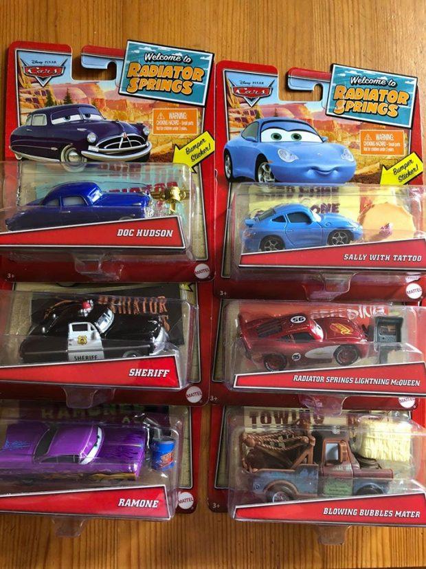 Disney Pixar Cars Welcome to Radiator Springs Sheriff w// Sticker New 2020